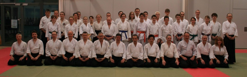 Larbi sensei teaching at Rising Sun Aikido, November 2013