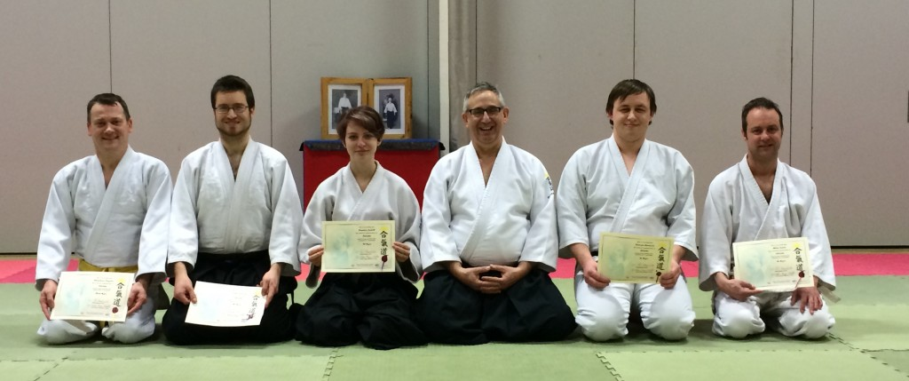 Sensei Phil awarding the grading certificates, 2 February 2015